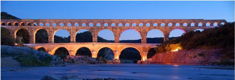 Le pont du gard et ses illuminations de Mathieu Meunier